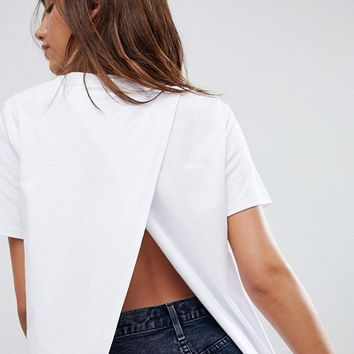 ASOS T-Shirt With Wrap Back at asos.com