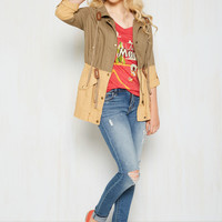New England Inclination Jacket in Olive | Mod Retro Vintage Jackets | ModCloth.com