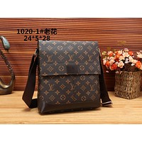 LV Louis Vuitton Men's Fashion Leather Tote Bag Handbag Shoulder Bag Handbag Size: 24*5*28