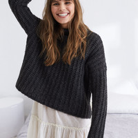 Aerie Turtleneck Sweater, Charcoal Heather