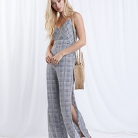 Carefree Days Houndstooth Jumpsuit