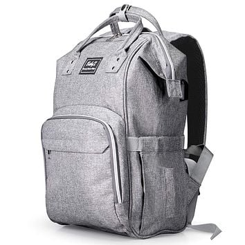 BabyX Diaper Bag Backpack Multifunction Waterproof Grey