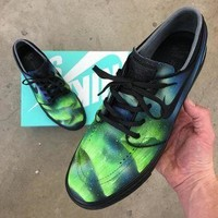 Tagre™ Custom Painted Nike SB Northern Lights Stefan Janoski Skate Shoes - Aurora Borealis