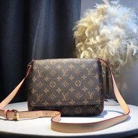 Kuyou Gb5988 Louis Vuitton Lv M51257 Neverfull Monogram Inclined Shoulder Bag 23x21x4cm