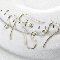 Earring Hooks 14K GF Shepherds Hooks One And A Half Inches Long 2 Pair