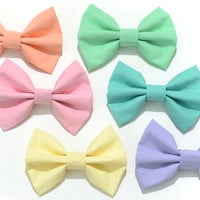 Pastel Fabric Hair Bow