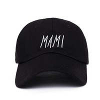 2017 new men women Hip hop MAMI Embroidered Low Profile Baseball Cap Hat black dad caps