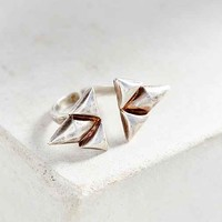 Bing Bang Double Trident Ring- Silver