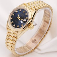 Factory Rolex Lady DateJust 69178 18k Yellow Gold Diamond Dial