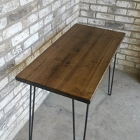 """Reclaimed wood desk, hairpin legs, 39"""" long x 20"""" wide x 30"""" high, IN STOCK, ready to ship"""