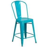 ET-3534-24-SOLID Indoor Outdoor Barstools