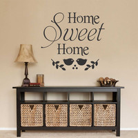 Home Sweet Home Decal | Vinyl Wall Lettering | Wall Quotes