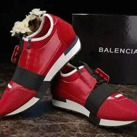 BALENCIAGA Trending Women Men Red Leisure Shoe Sneakers I