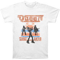Queen Men's  Tour 1976 Silhouettes T-shirt White