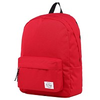 SIMPLAY Classic School Backpack Bookbag, Red D194A, Red