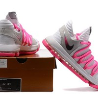 Nike Zoom KD10   Kevin Durant  Ⅹ White/Pink  Basketball Shoes