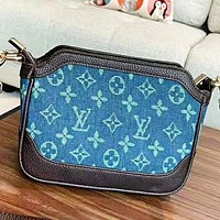 LV Louis Vuitton Fashion New Monogram Print Shopping Leisure Shoulder Bag Bucket Bag Women