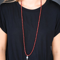 The Chrissy Necklace, Burgundy | BPD