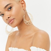 Geo Cutout Drop Earrings