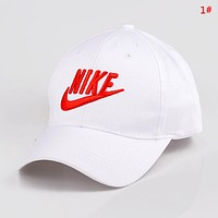 NIKE New fashion embroidery letter hook couple cap hat 1#