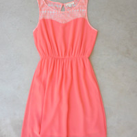 Coral Summer Wonder Dress [7122] - $36.00 : Feminine, Bohemian, & Vintage Inspired Clothing at Affordable Prices, deloom