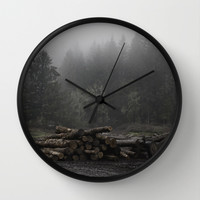 Lumber yard Wall Clock by Phillip Van