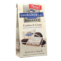 Ghirardelli Squares Cookies and Creme, 4.57 oz.