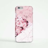 iPhone 6 Case, iPhone 6 Plus Case, iPhone 5S Case, iPhone 6, iPhone 5C Case, iPhone 4S Case, iPhone 4 Case - Marble Pink Rose