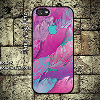 iPhone 5 case, iPhone 4s / 4 case hard plastic or silicon rubber Leafs