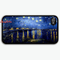 iPhone 4 Case - Vincent Van Gogh Starry Night iphone 4 case, iPhone 4s Case, iPhone 4 Hard Case, iPhone Case
