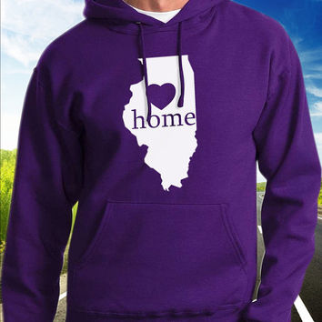 Illinois Home Hoodie - State Pride - Home - Clothing