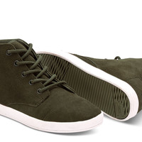 Tarmac Olive Suede Women's Paseo Highs