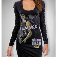 The Walking Dead Daryl Claimed Laser Sleeve Junior Fitted Tunic