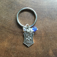 Police Key Chain, Police Gift, Male Police Key Chain, Police Week Gift, Fathers Day Police Gift