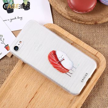 CASEIER Cute Sushi Phone Case For iPhone 7 8 Cover Soft TPU Funda For iPhone X 6 6s Plus 5 5S SE Couque Capinha Accessories Case