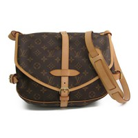 Louis Vuitton Monogram Saumur M42256 Women's Shoulder Bag Monogram BF320158