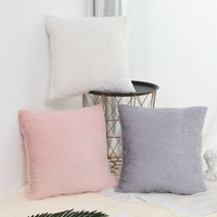 Plain Plush Cushion Cover 1pc