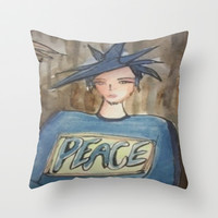 peace  Throw Pillow by helendeer