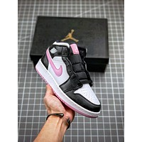 NIKE AIR JORDAN 1 High Retro Black Toe Basketball shoes01