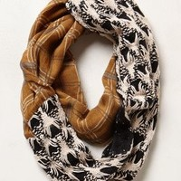 Whitetail Lodge Infinity Scarf by Anthropologie Black Motif One Size Scarves