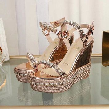 Christian Louboutin CL Pyraclou 11cm Wedges Style #5 - Best Online Sale
