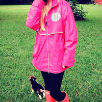 Charles Rivers Rain Jacket with Lilly Pulitzer Monogram