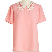 ModCloth Vintage Inspired Mid-length Short Sleeves Sweet Enough to Eat Top