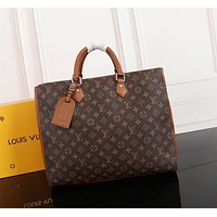 lv louis vuitton women leather shoulder bags satchel tote bag handbag shopping leather tote 219