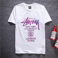 Stussy Woman Men Multicolor Fashion Tunic Shirt Top Blouse
