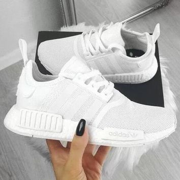 ADIDAS NMD Classic Hot Sale Women Men Casual Running Sport Casual Shoes Sneakers White