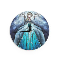 "Mandie Manzano ""The Snow Queen"" Frozen Wall Clock"