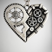 Steam Punk Heart Necklace
