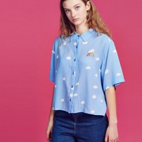 Lazy Oaf Crop Cloud Shirt - Everything - Categories - Womens