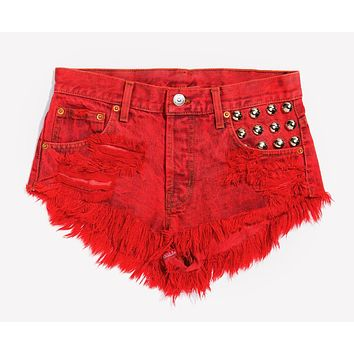 450 Rouge Studded Vintage Shorts